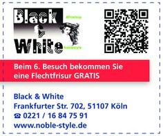 Gutschein Black & White Afroshop