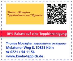 Gutschein Thomas Movaghar Teppichwäscherei und Reparatur