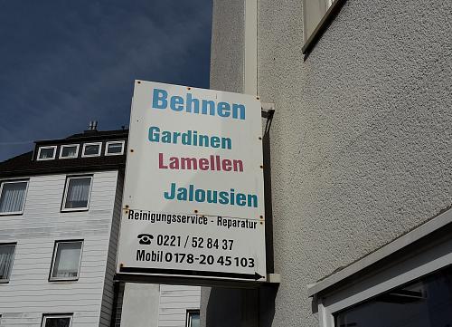 Gardinen Köln finden Sie in den Kölner Branchen